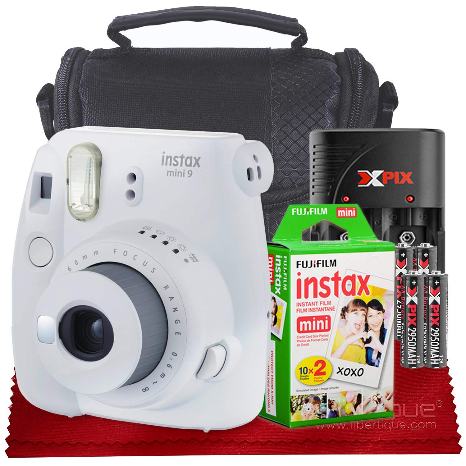 Fujifilm Instax Mini 9 Instant Camera, Smokey White With